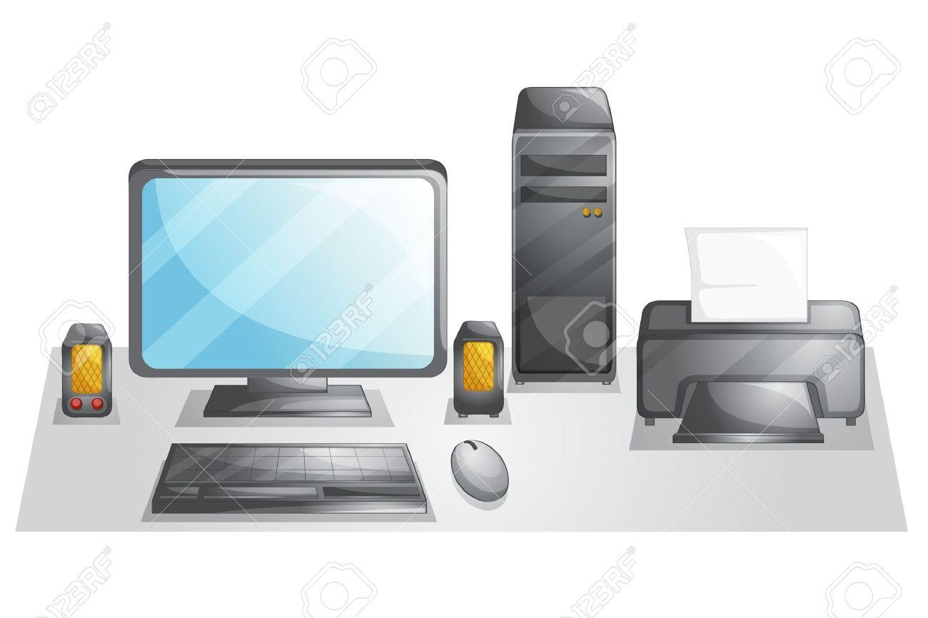 Illustration of a computer setup Stock Vector - 13960967