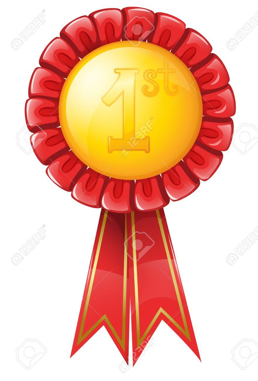 Illustration of a gold medal - 13988410