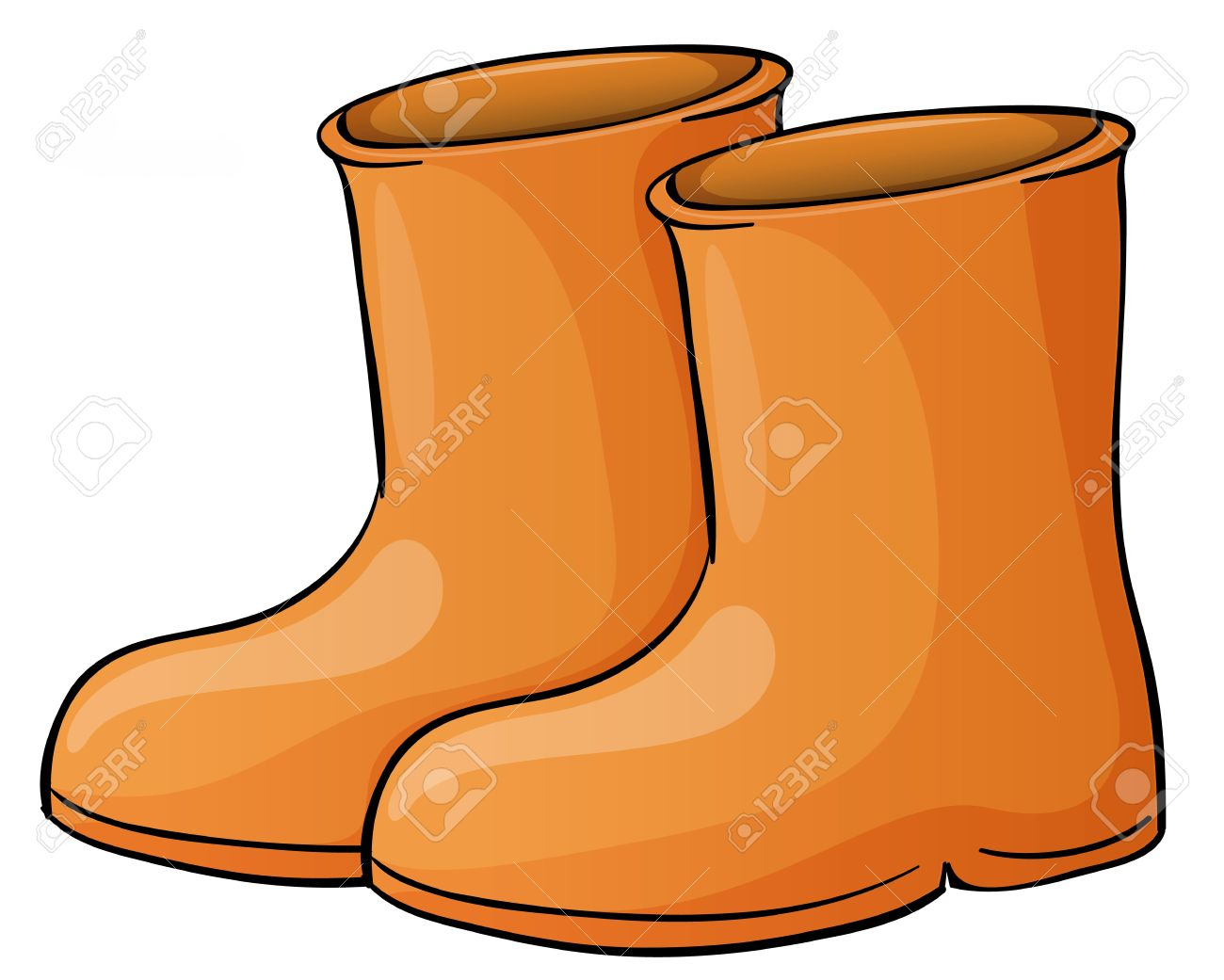 Illustration of a pait of boots - 13988383