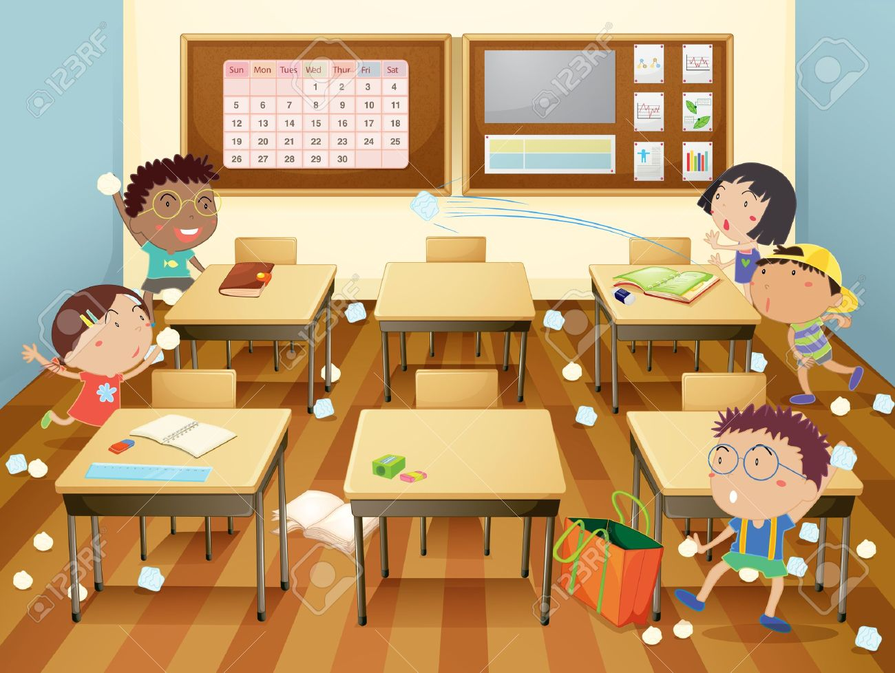Image result for naughty kids in class cartoon
