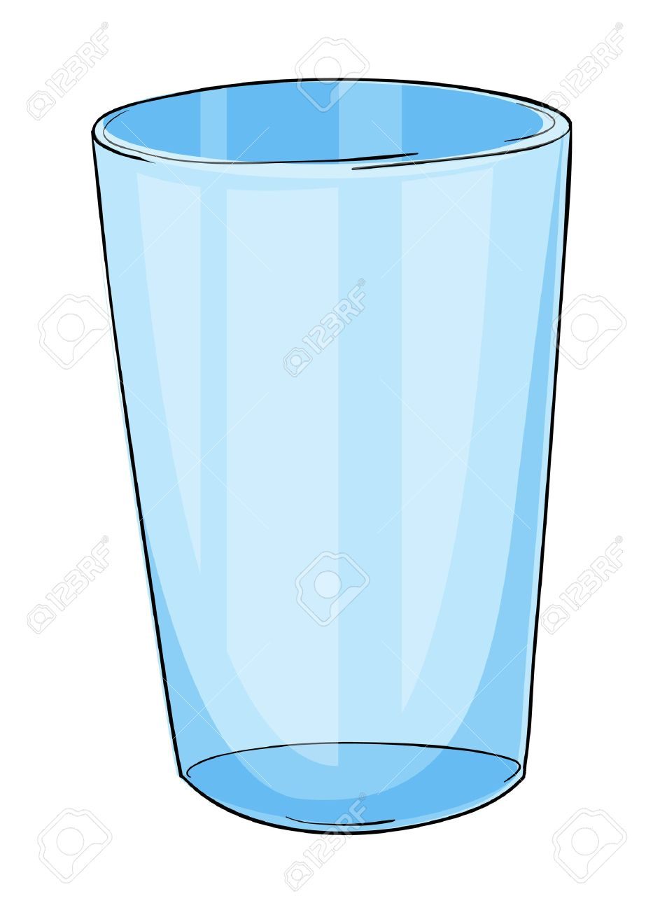 Illustration of a glass on white - 14009353