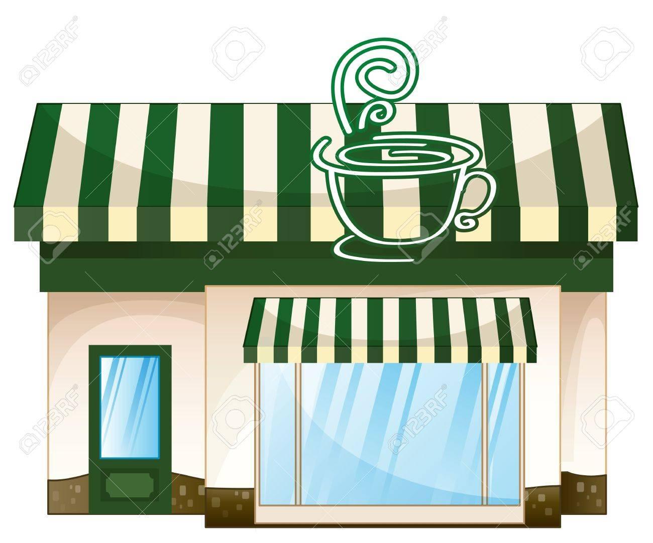 Fancy restaurant buildings clip art - Restaurant Building Illustration Of A Tent House On A White Background Illustration