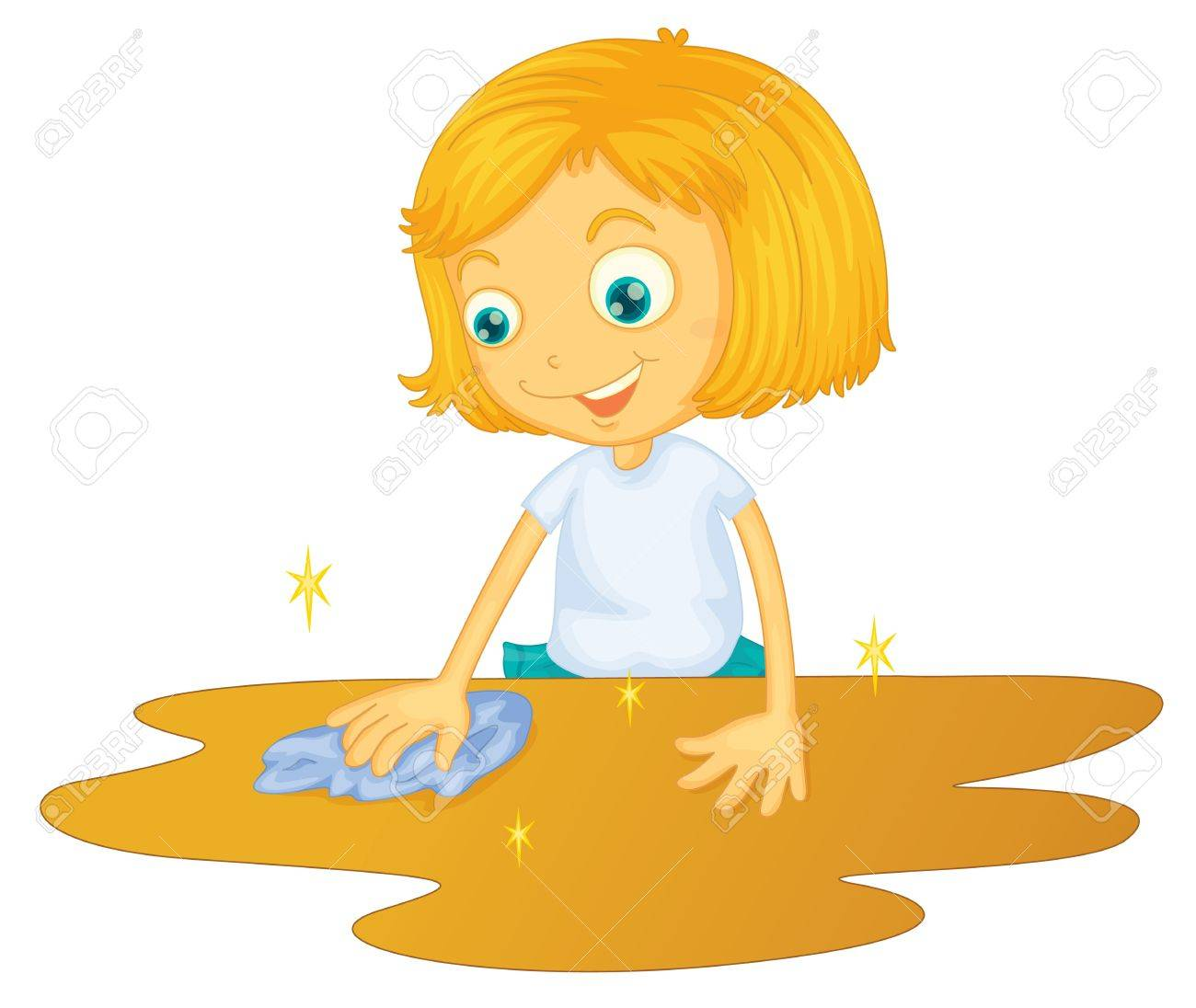 Dirty Rag Clipart wiping cloth  illustration of