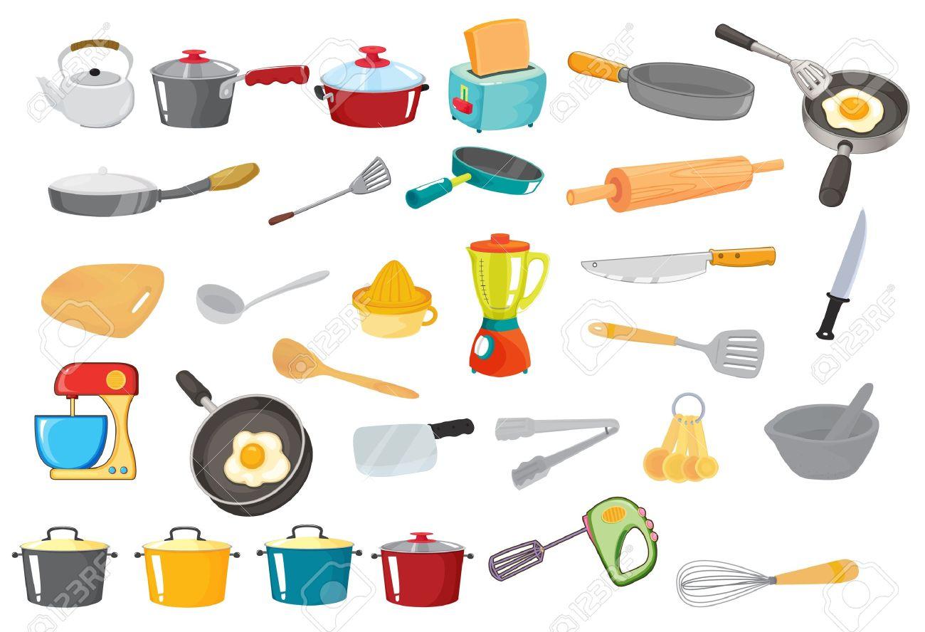 illustration of various utensils on a white royalty free cliparts illustration of various utensils on a white stock vector 14253739