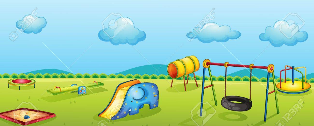 illustration of a play park for children Stock Vector - 14347338