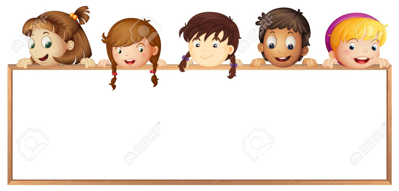 illustration of a kids showing board on a white background Stock Vector - 14347272