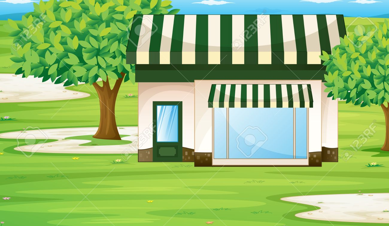 illustration of a tent house on the green grass Stock Vector - 14347314