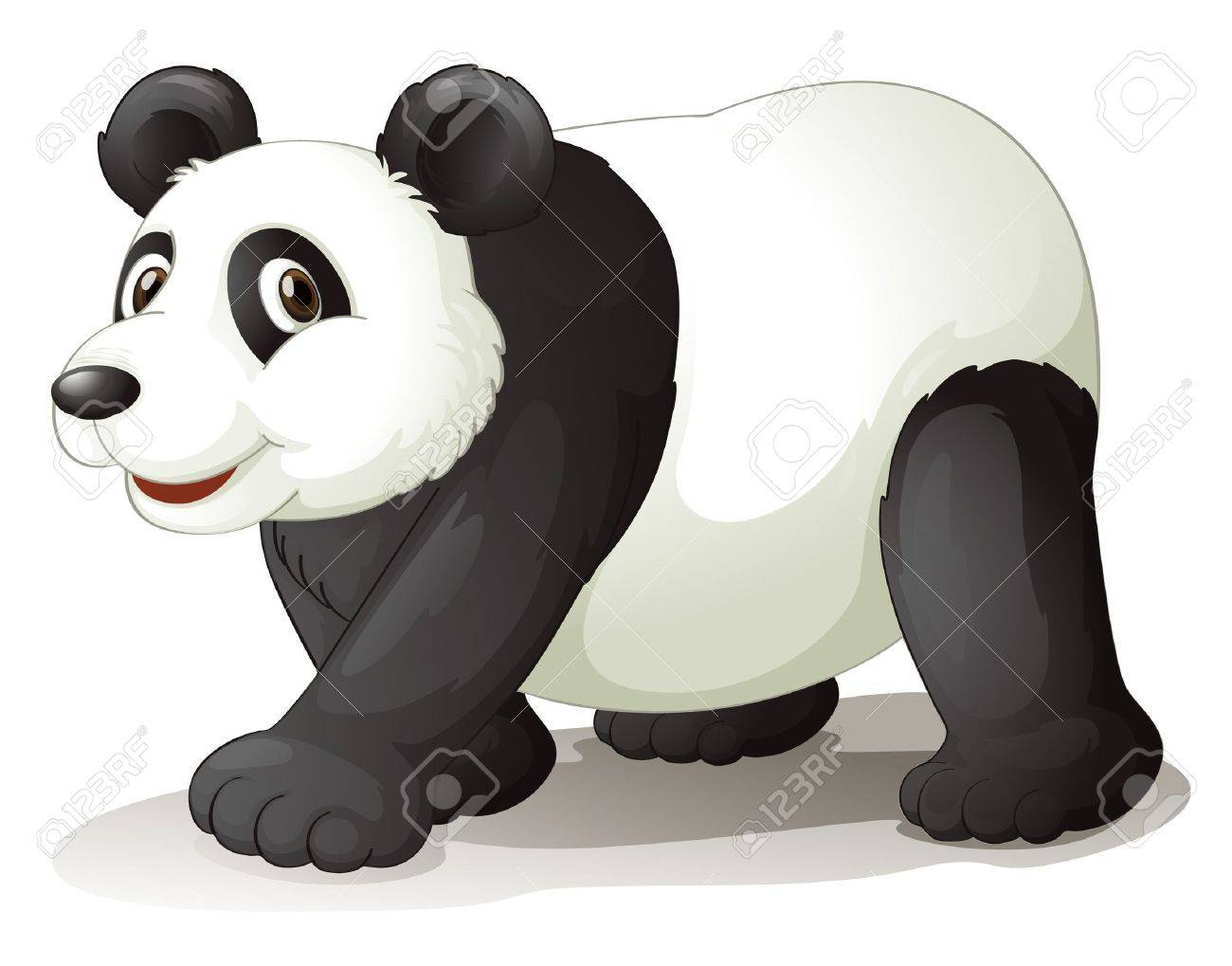 illustration of a panda on a white background Stock Vector - 14528726