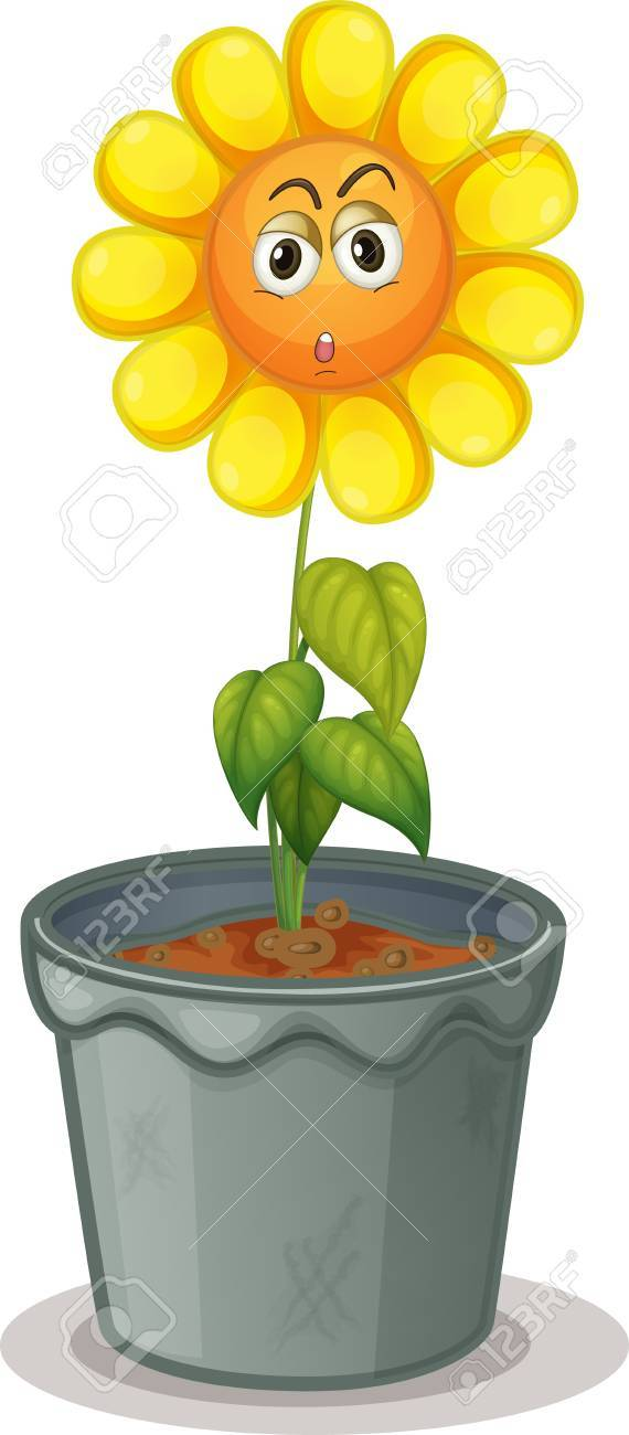illustration of a flower in the pot Stock Vector - 14888104
