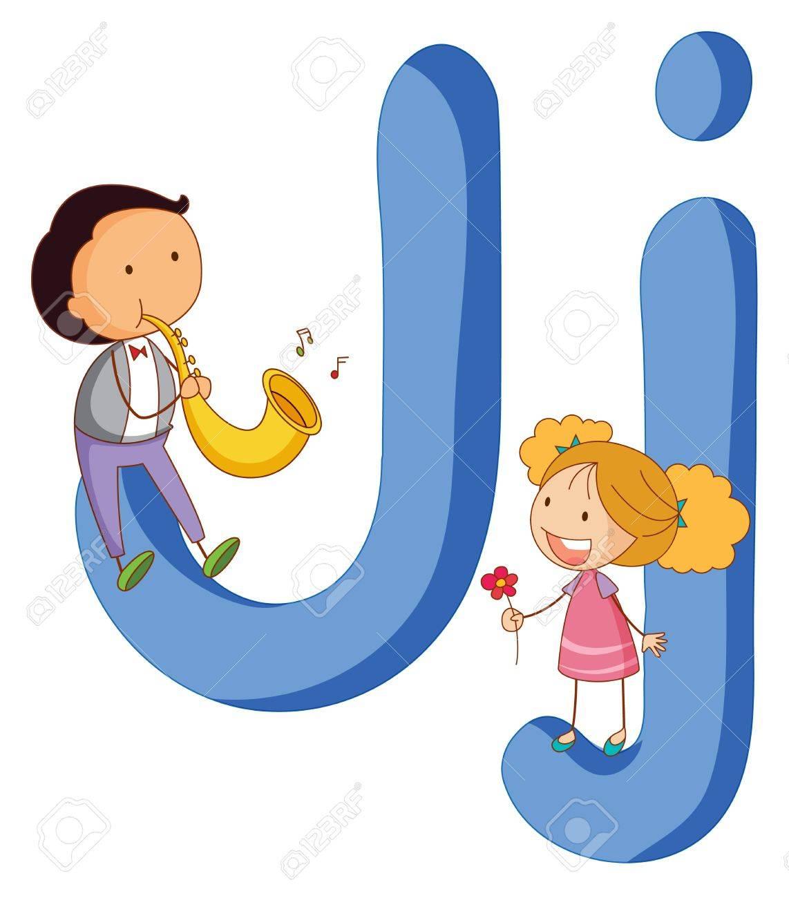 Illustration of children in a letter of alphabet Stock Vector - 14887333