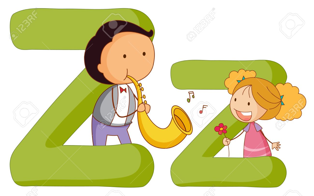illustration of children in a letter of alphabet - Cartoon Image Of Children