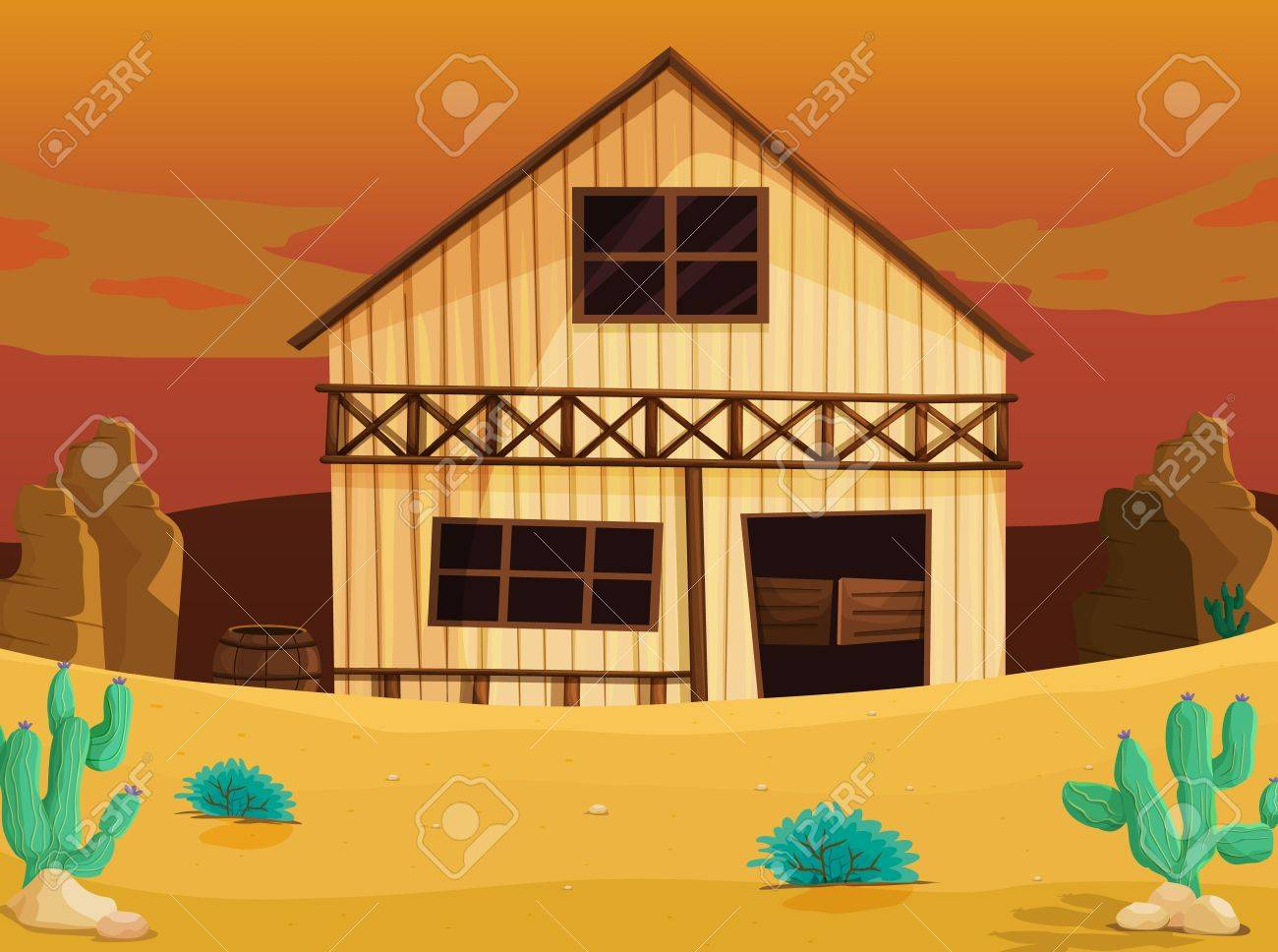 illustration of a house on a white background Stock Vector - 14887573