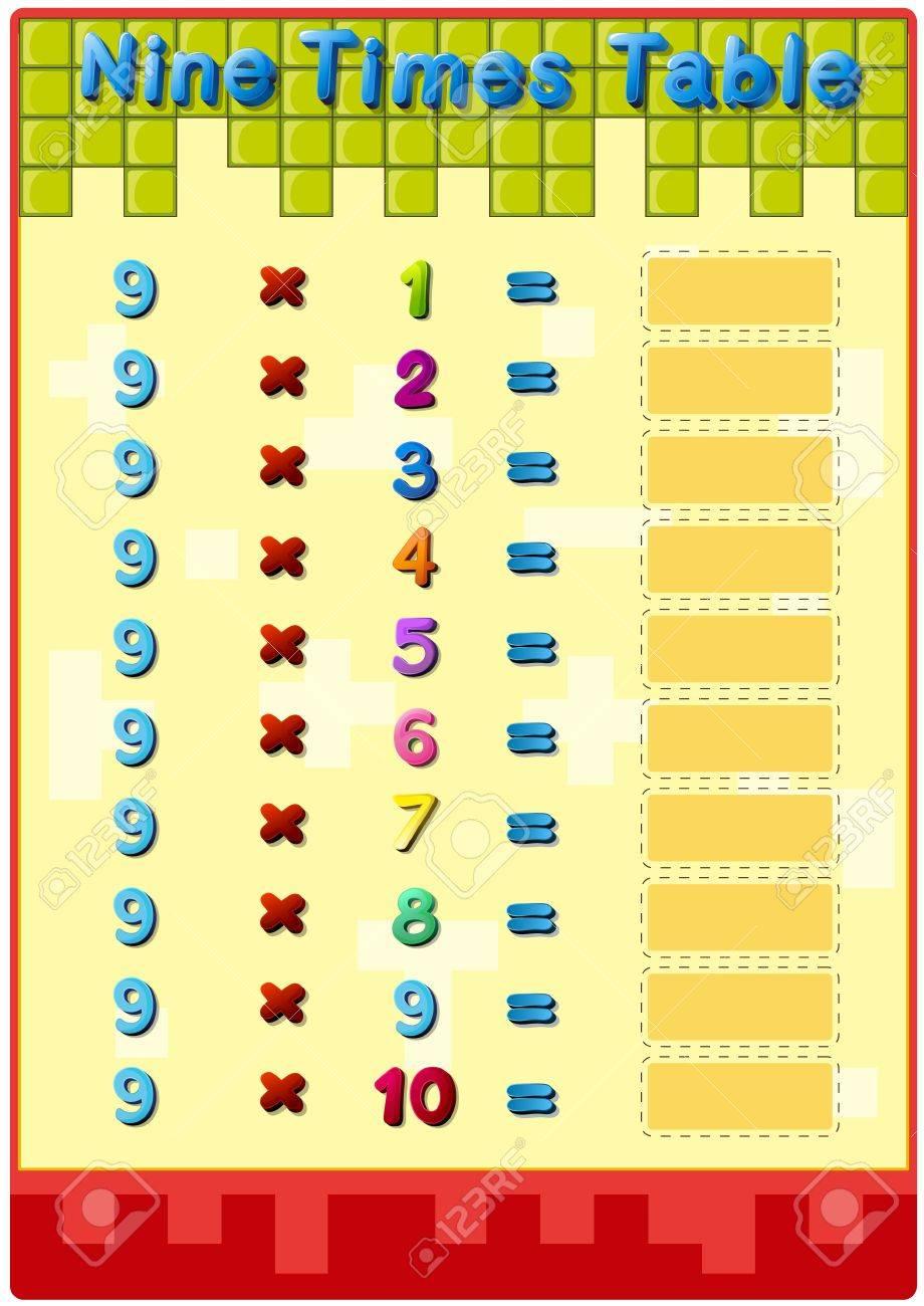 math worksheet : nine times table worksheets  worksheets for education : Multiplication Worksheets 7 Times Tables