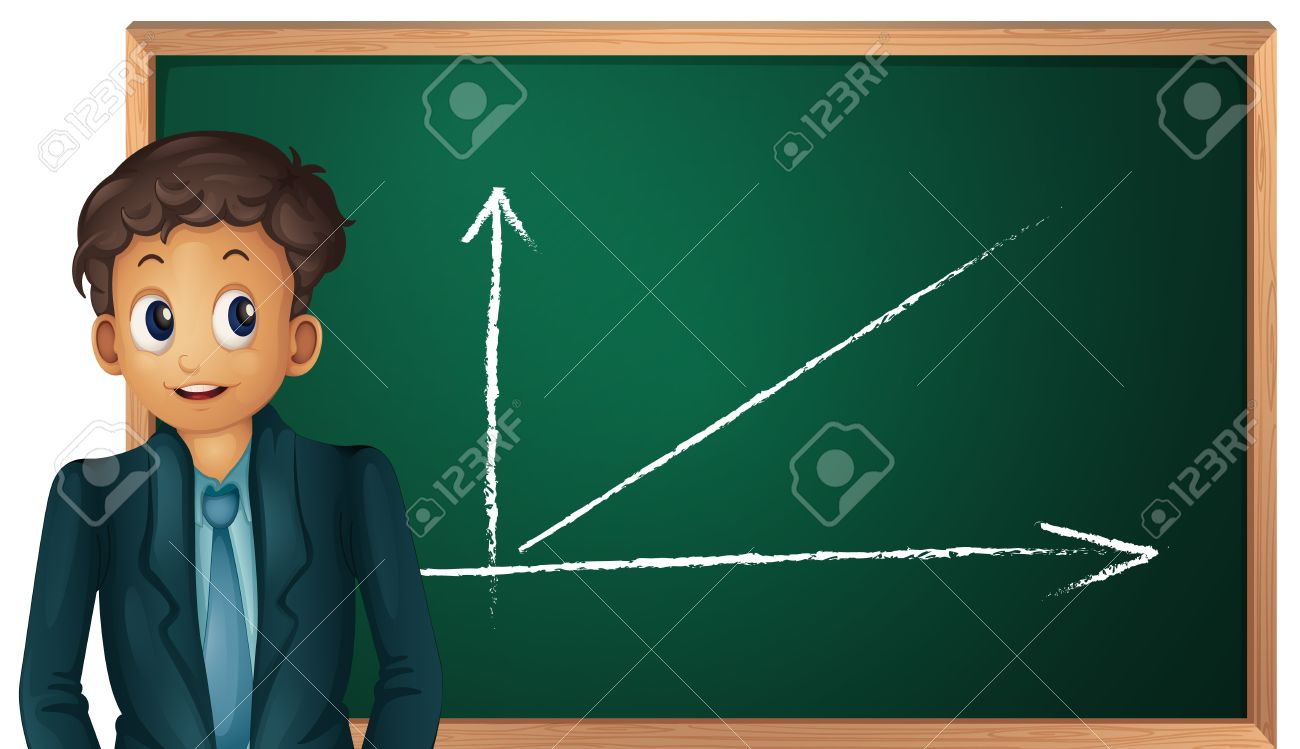 Illustration Of Boy Showing Green Board On White Royalty Free ...