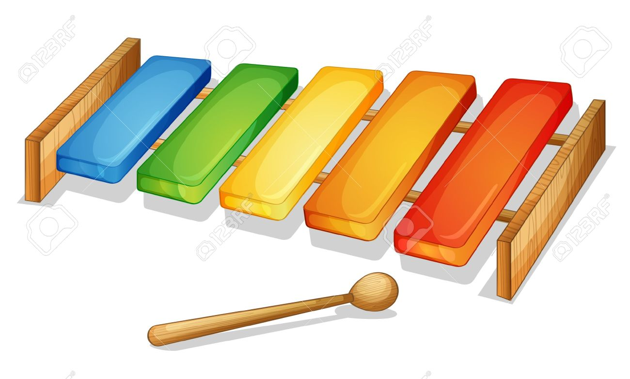 Xylophone illustration of xylophone on a