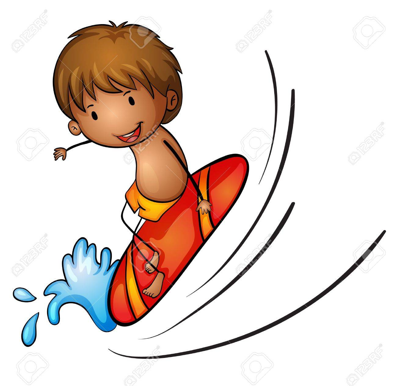 illustration of boy and surfing on a white background royalty free rh 123rf com Surfers Clip Art Teenagers Surfer Dude Clip Art