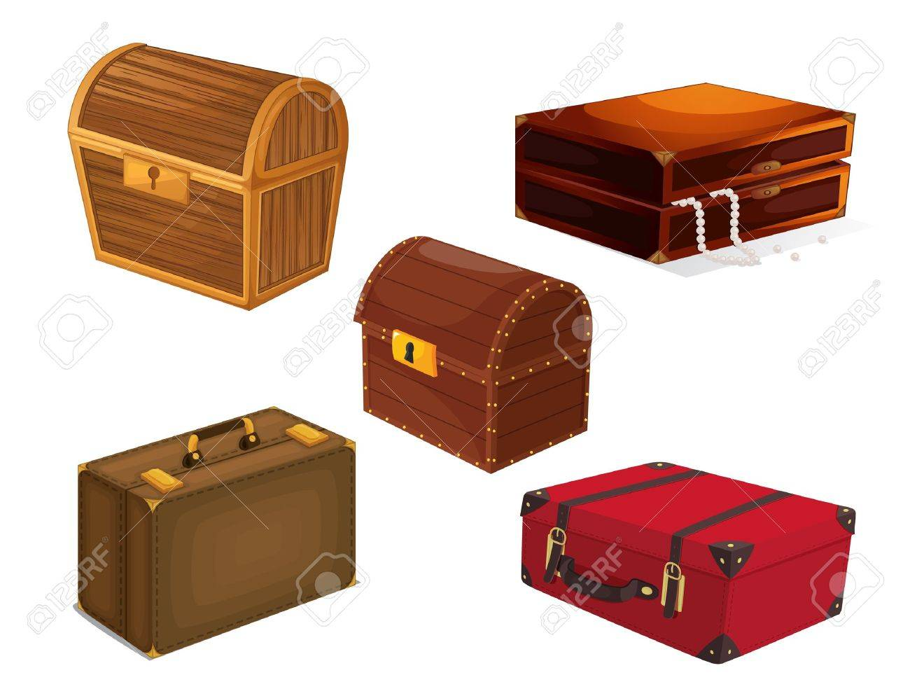 illustration of a various bags on a white background Stock Vector - 15328568