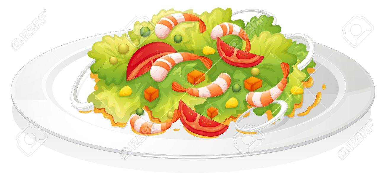 illustration of a salad on a white background Stock Vector - 15337972