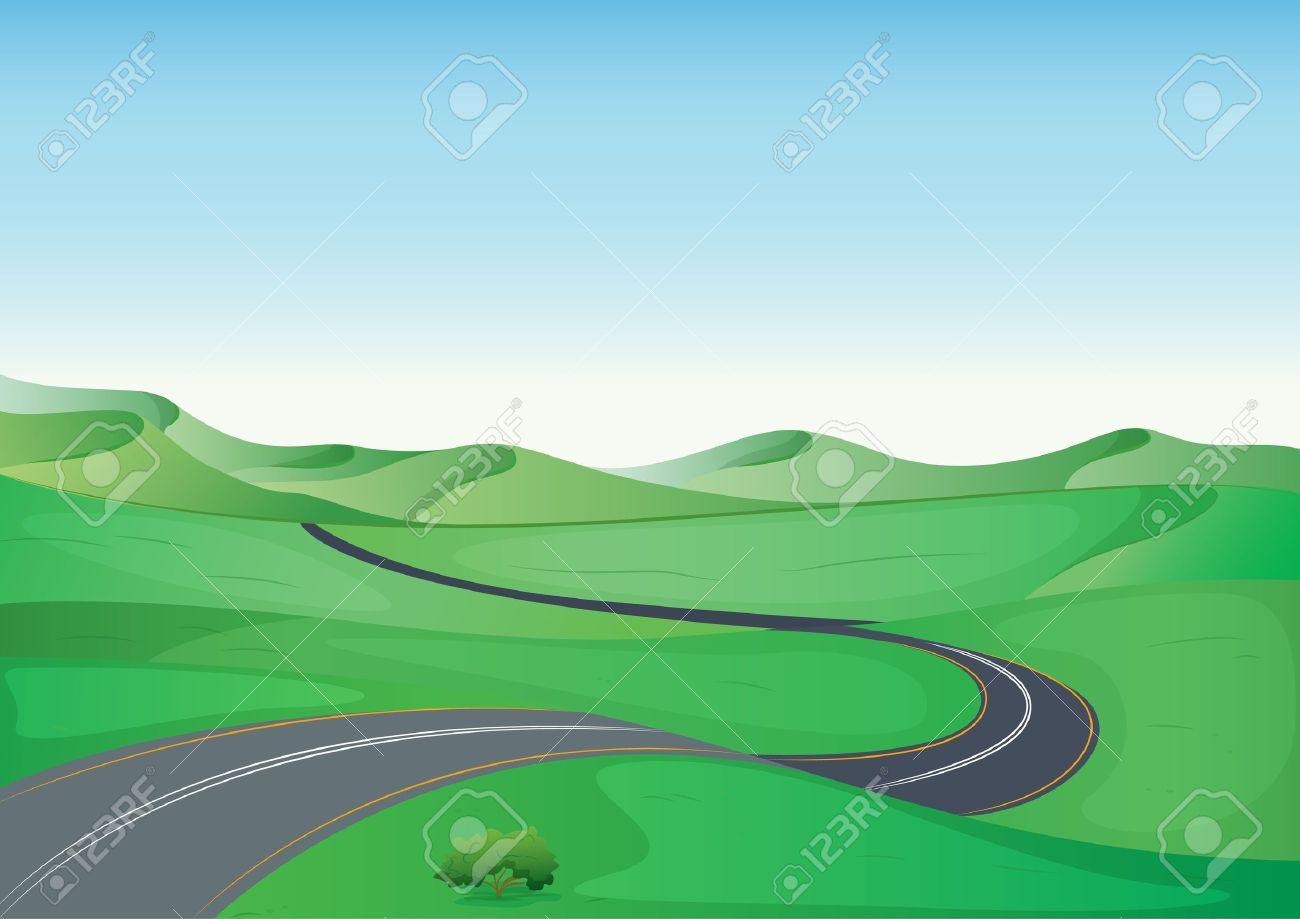 Winding Path Illustration winding illustration of a