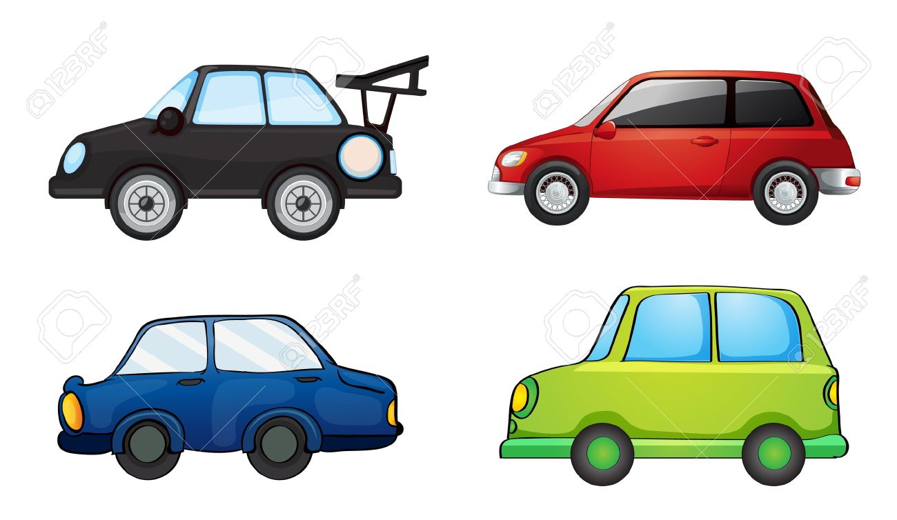 illustration of various cars on a white background Stock Vector - 15337964