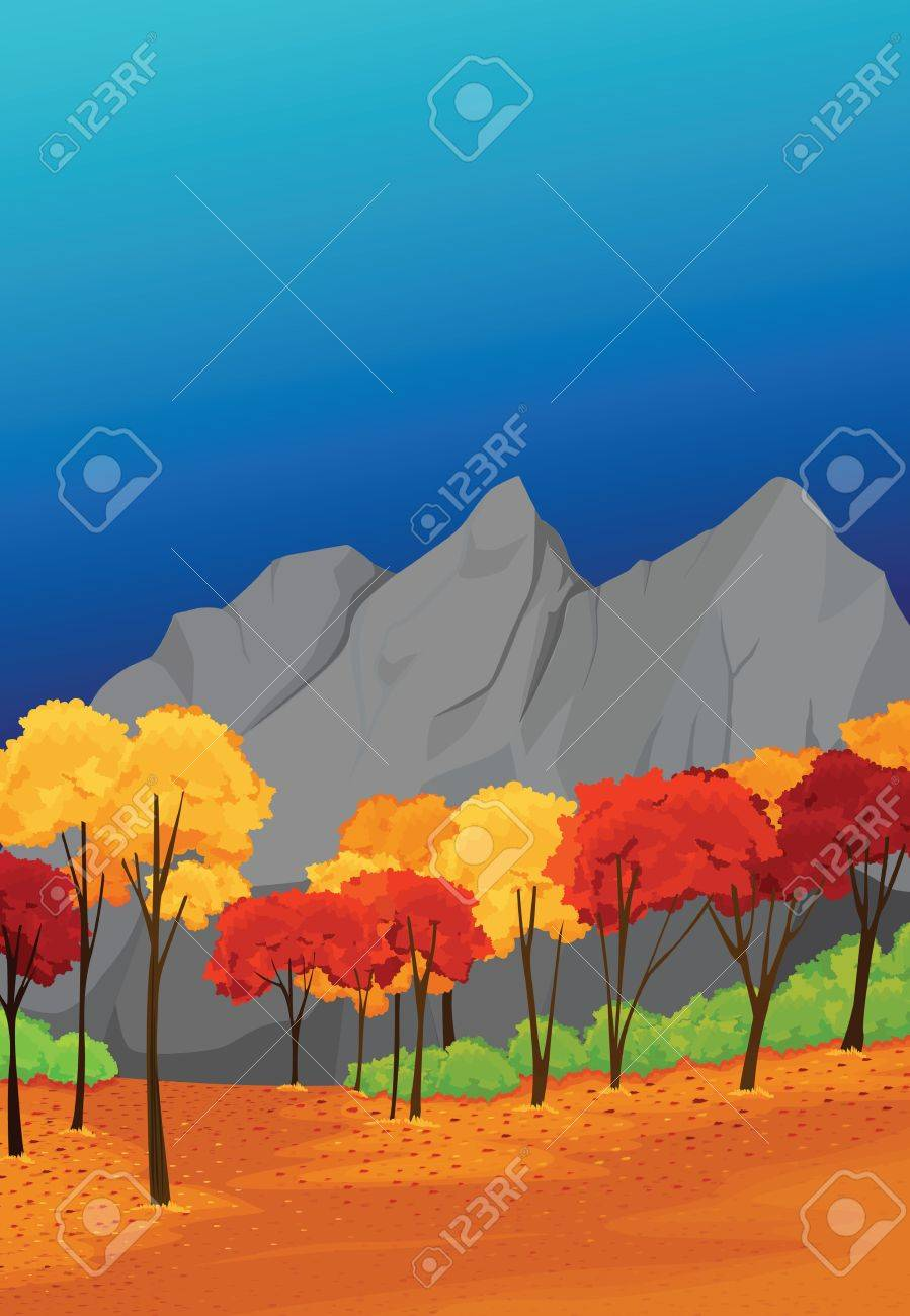 illustrationof beautiful landscape with sky background Stock Vector - 15401854