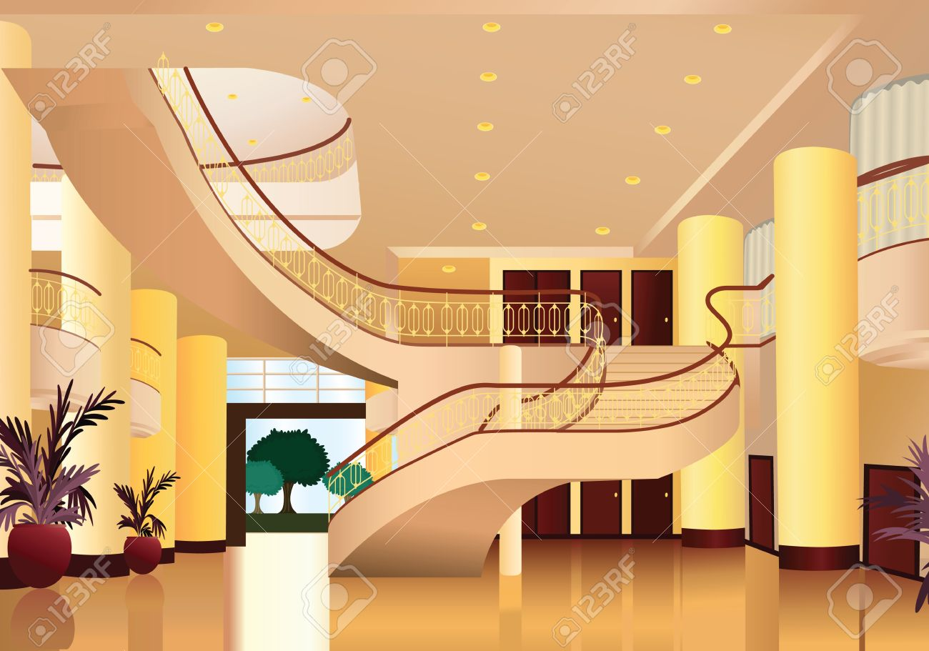 Illustration Of Beautiful Home Decor And Inside View Stock Vector   15401887