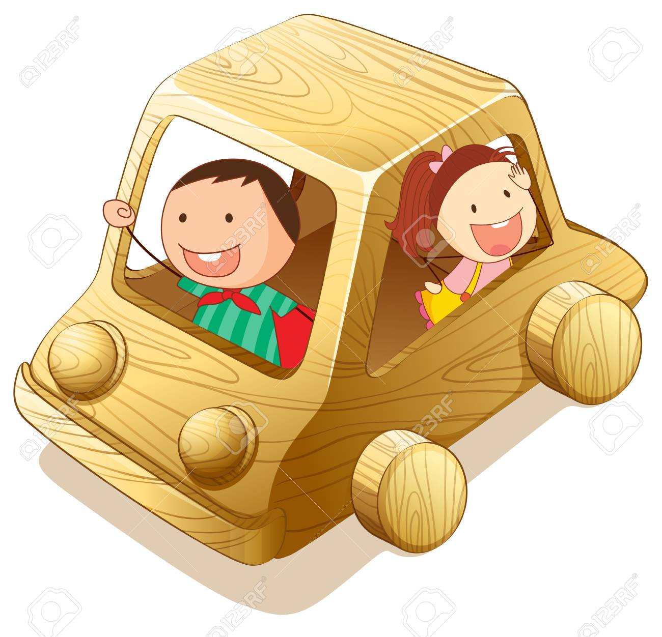 illustration of kids and toy on a white background Stock Vector - 15404089