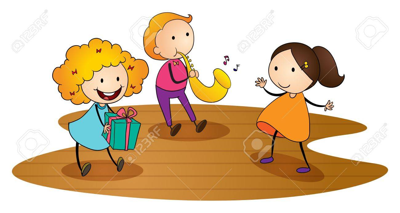 illustration of kids on a white background Stock Vector - 15552298
