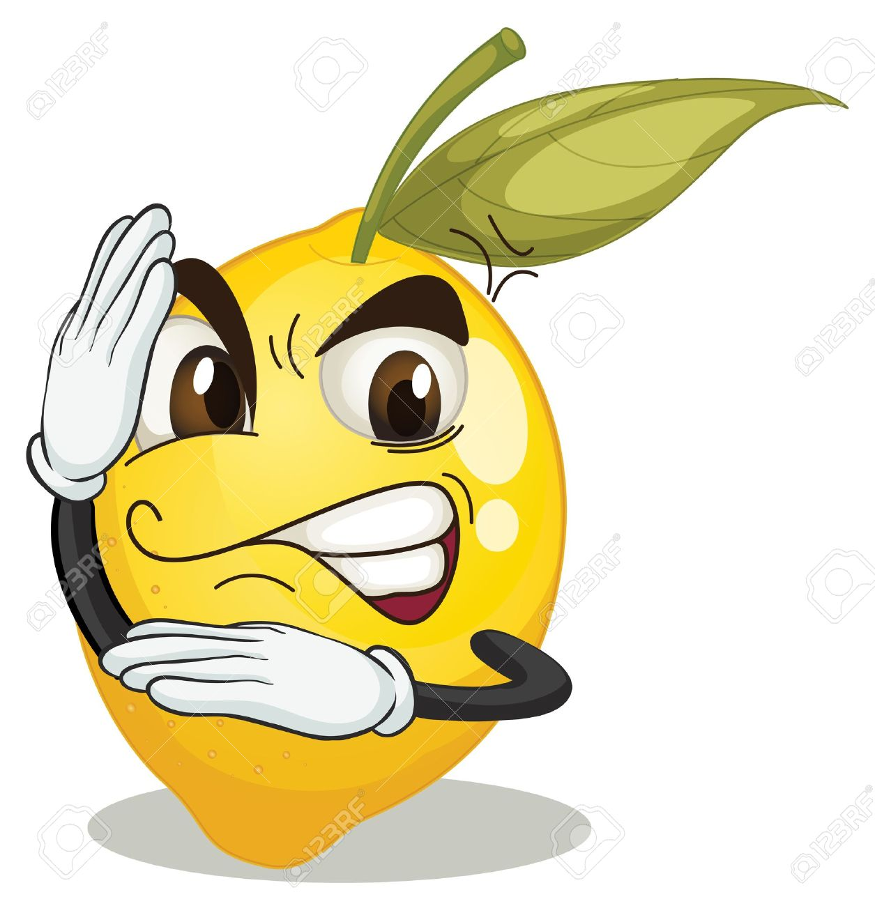 illustration of lemon smiley on white background Stock Vector - 15666583