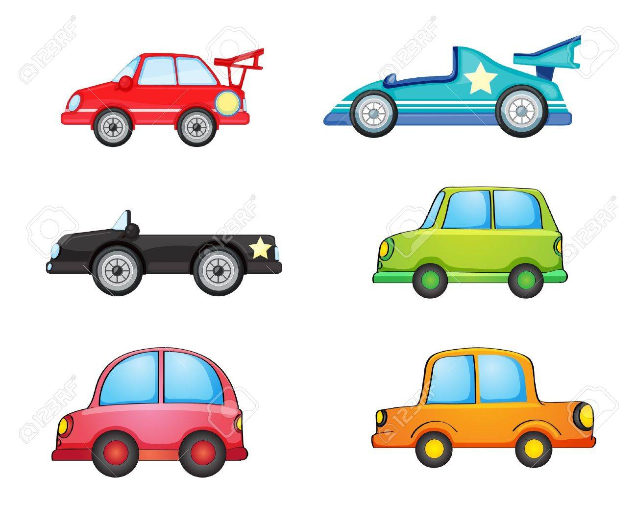 illustration of various cars on a white background Stock Vector - 15730692