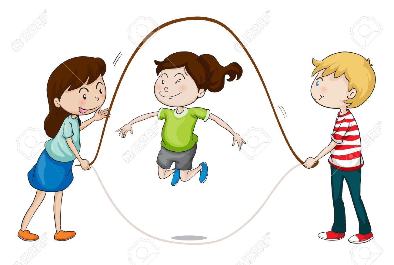 illustration of a kids playing on a white background Stock Vector - 15864463