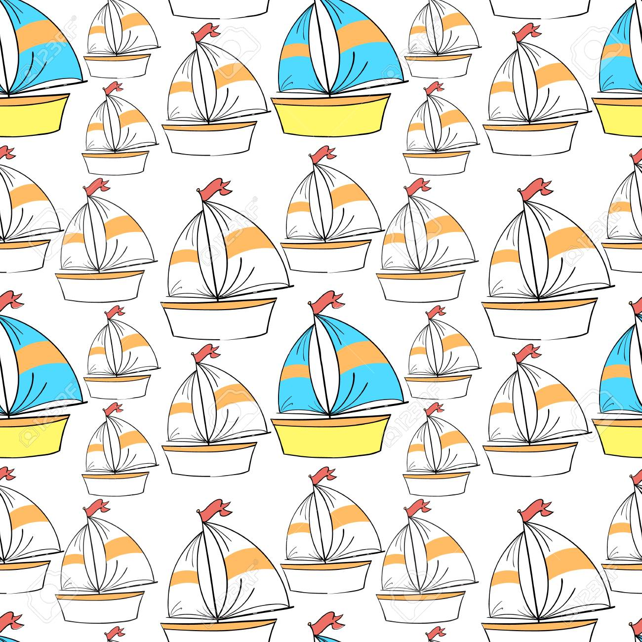 illustration of ships on a white background Stock Vector - 15899126