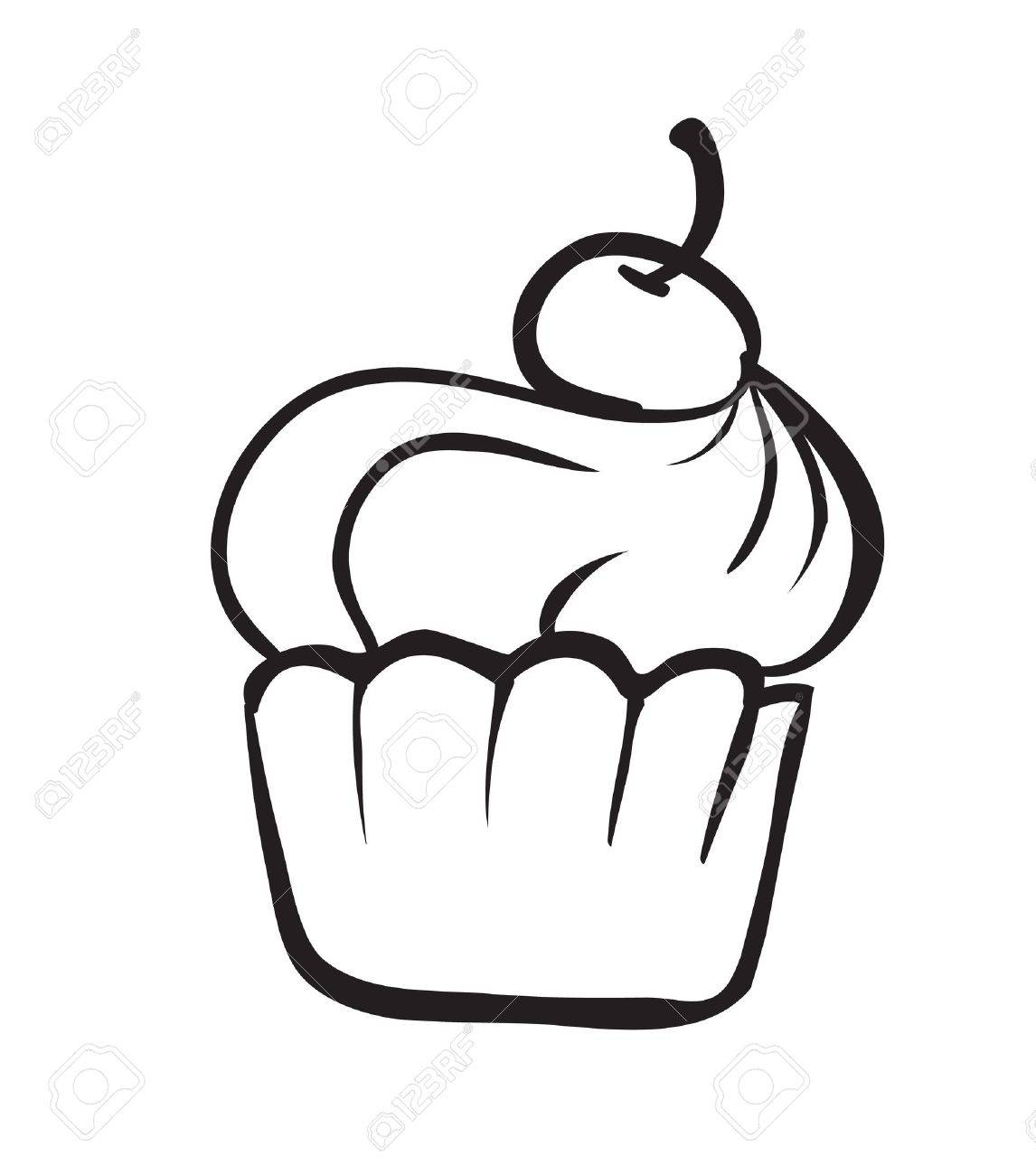 detailed illustration on a cake on a white background Stock Vector - 15899106