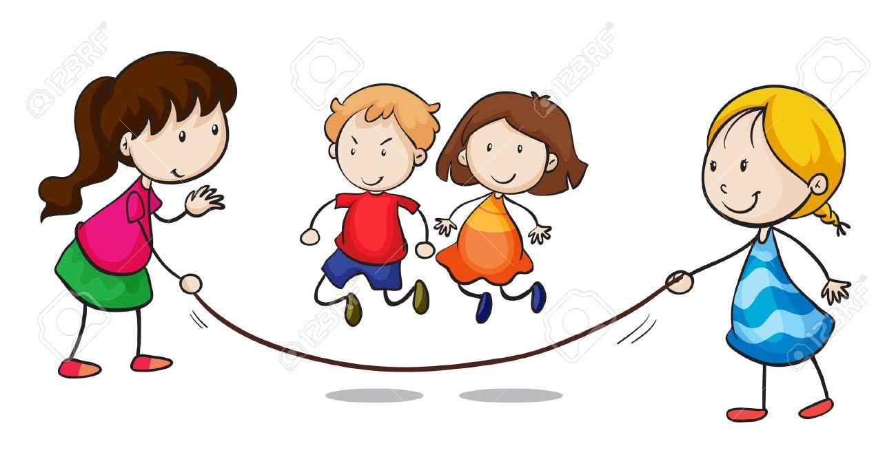 Illustration of a group skipping - 15913063