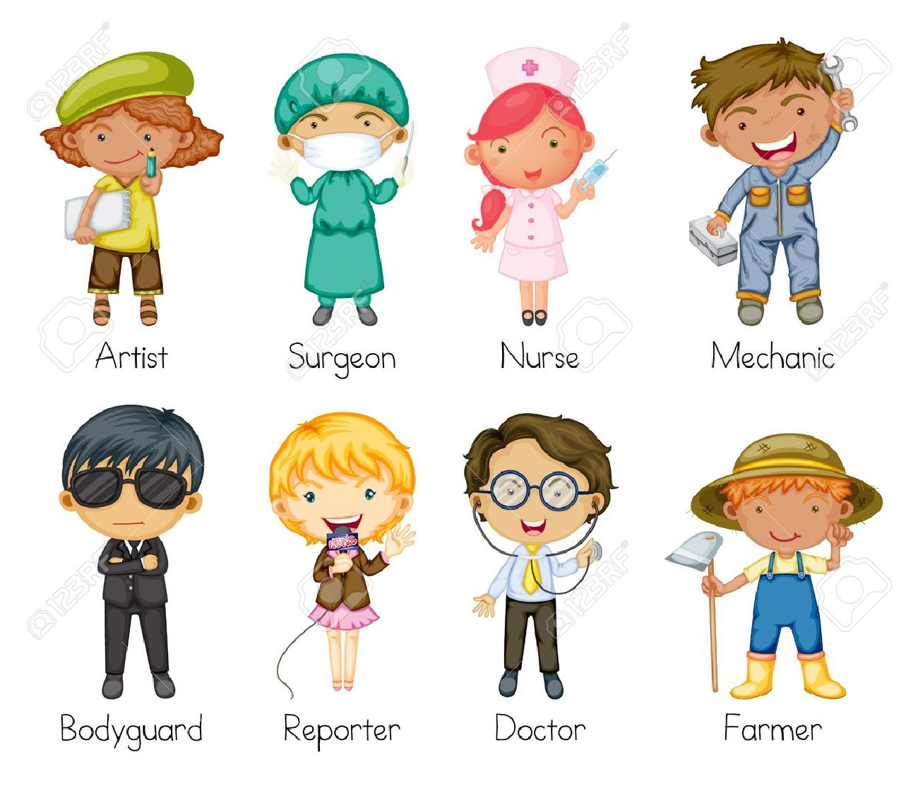 illustration of a jobs and professions royalty free cliparts rh 123rf com jobs clipart images jobs clipart black and white