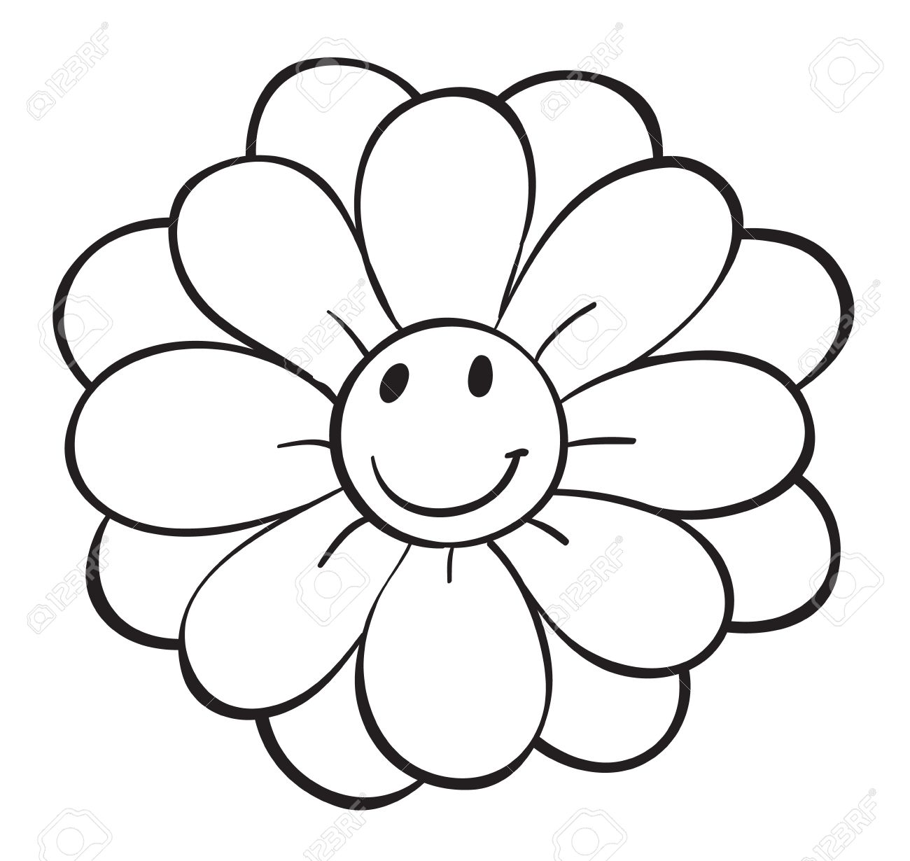 illustration of a flower sketch on a white background Stock Vector - 15943781