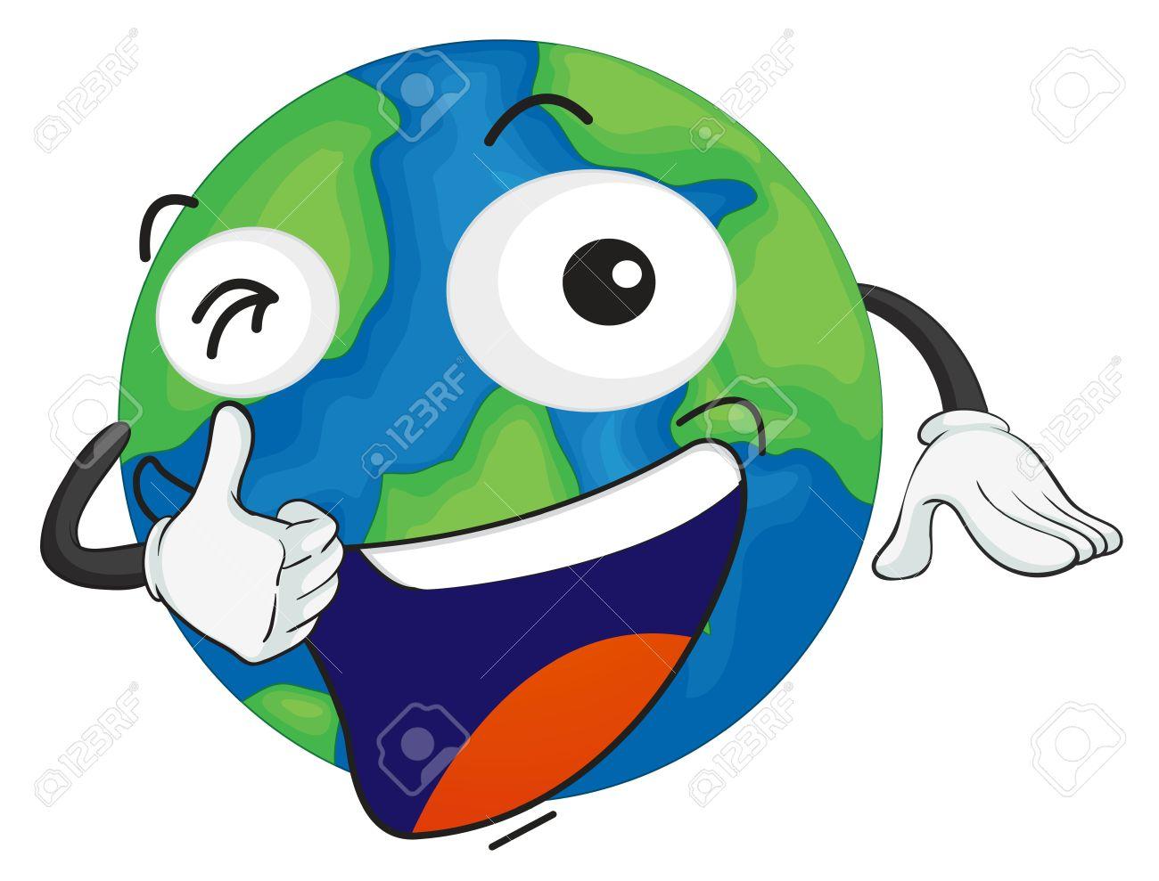 Illustration De La Planete Terre Sur Un Fond Blanc Clip Art Libres De Droits Vecteurs Et Illustration Image 15946498