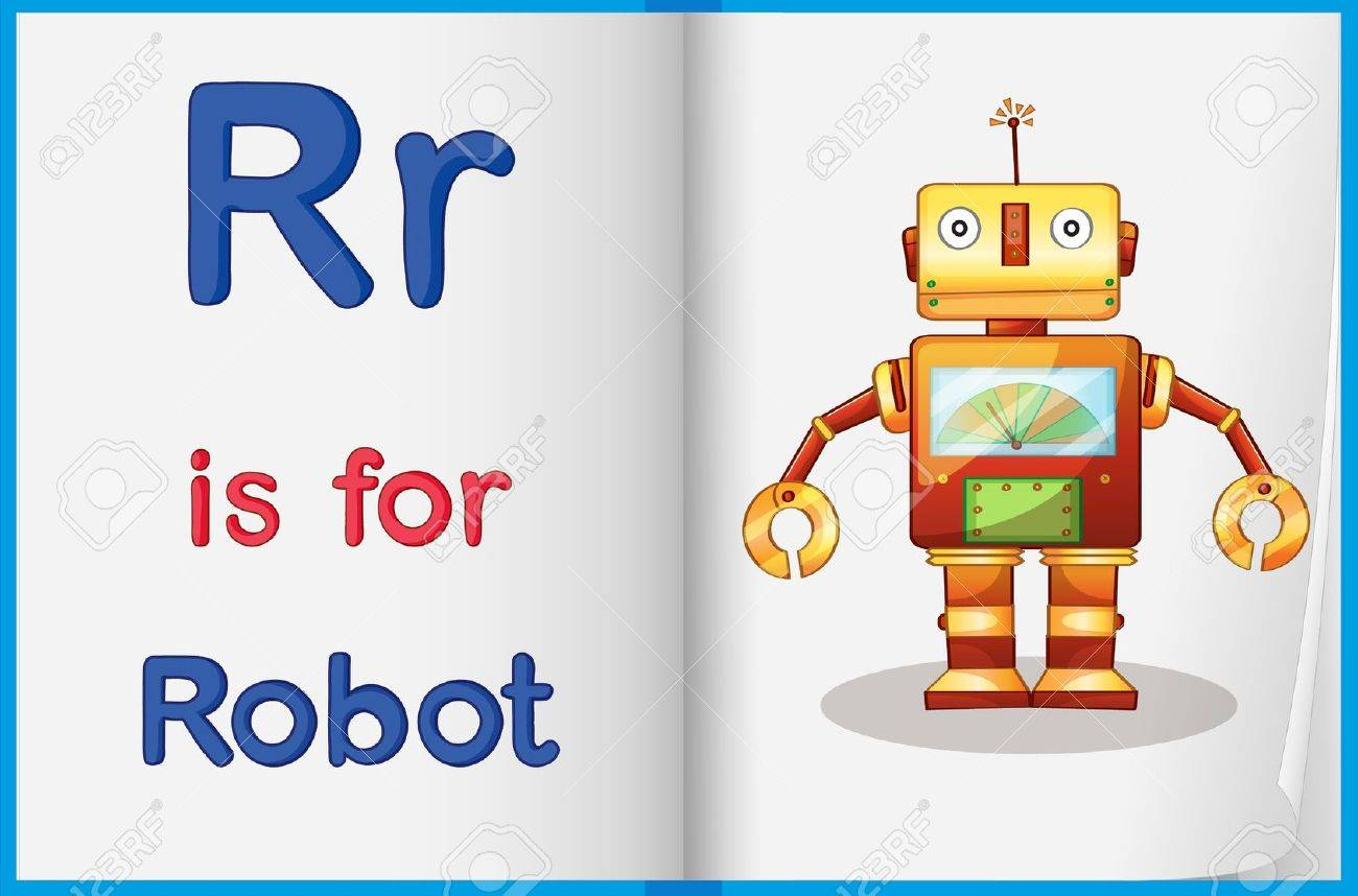 Worksheet Teaching A Letter And Word With Picture Royalty Free ...