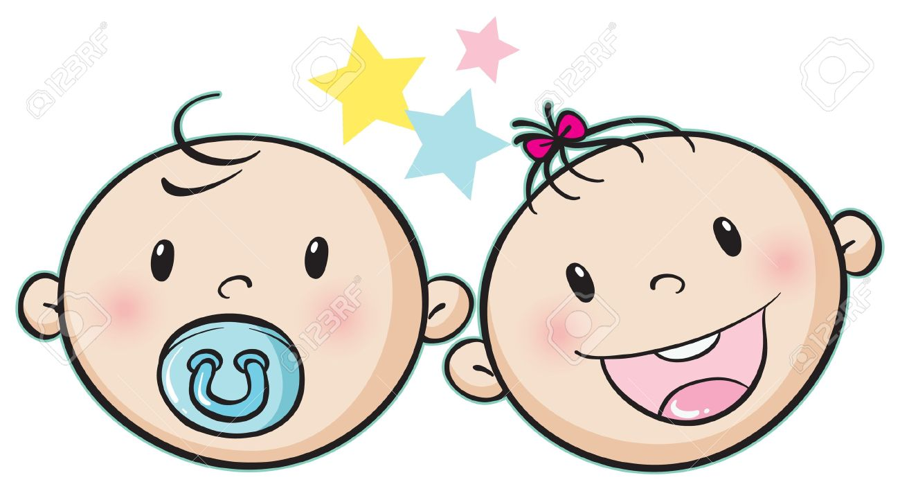illustration of a baby faces on a white background royalty free rh 123rf com crying baby face clipart baby face clip art in color