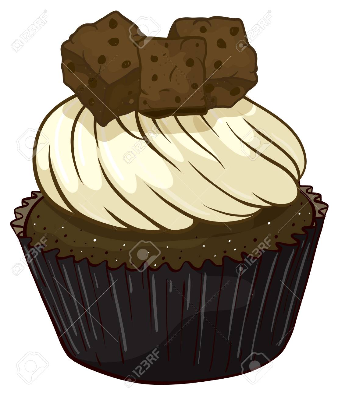 Illustration of an isolated cupcake Stock Vector - 16115588