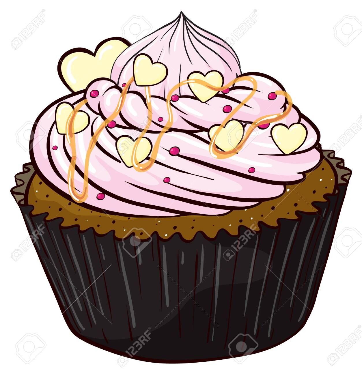 Illustration of an isolated cupcake Stock Vector - 16115583