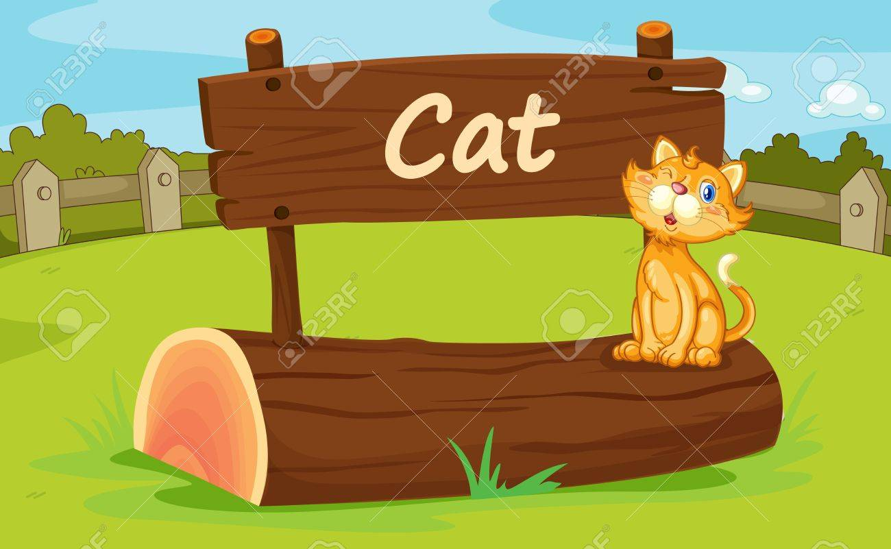 Illustration of animal enclosure at the zoo Stock Vector - 16117165