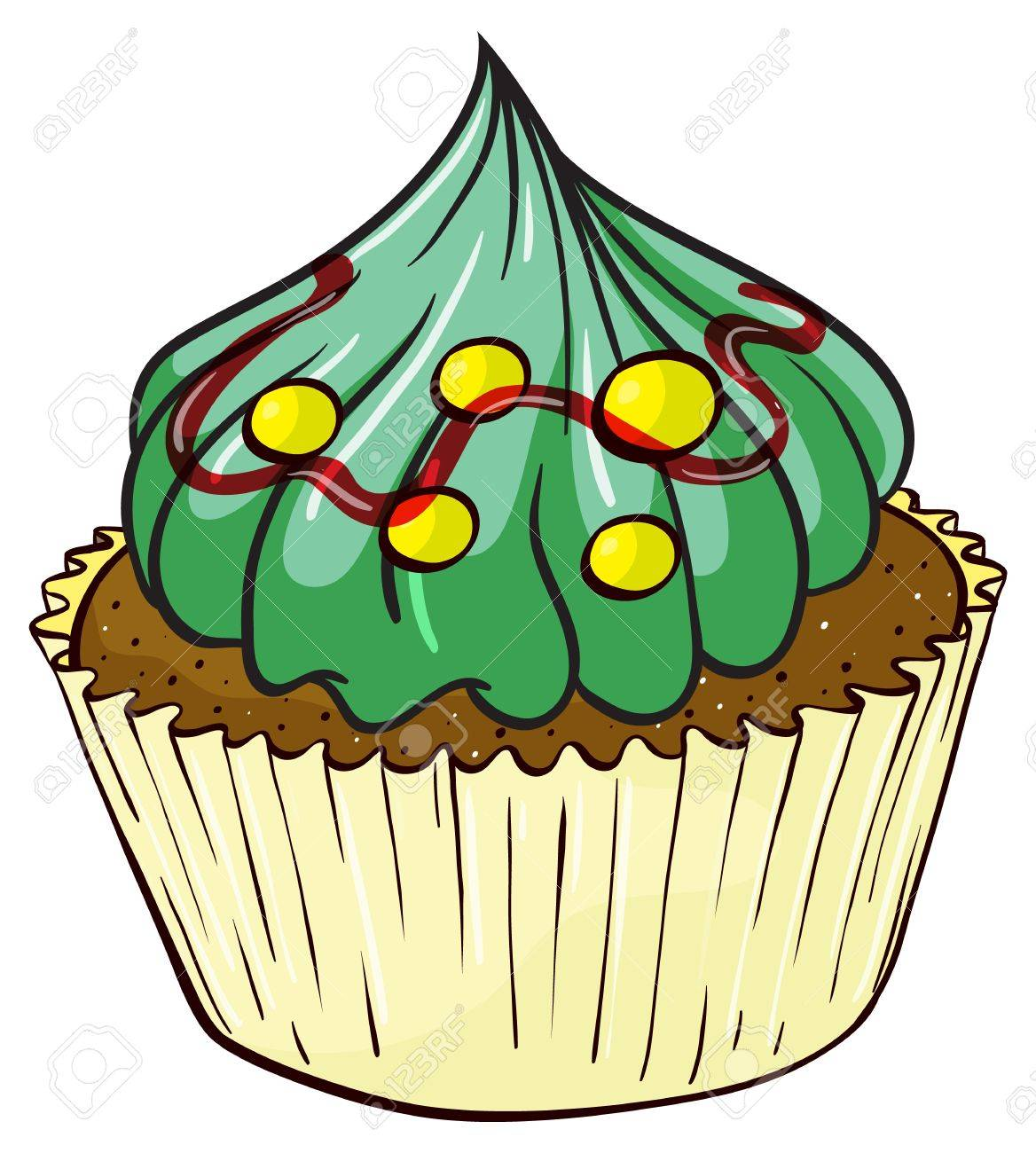 Illustration of an isolated cupcake on white Stock Vector - 16117399