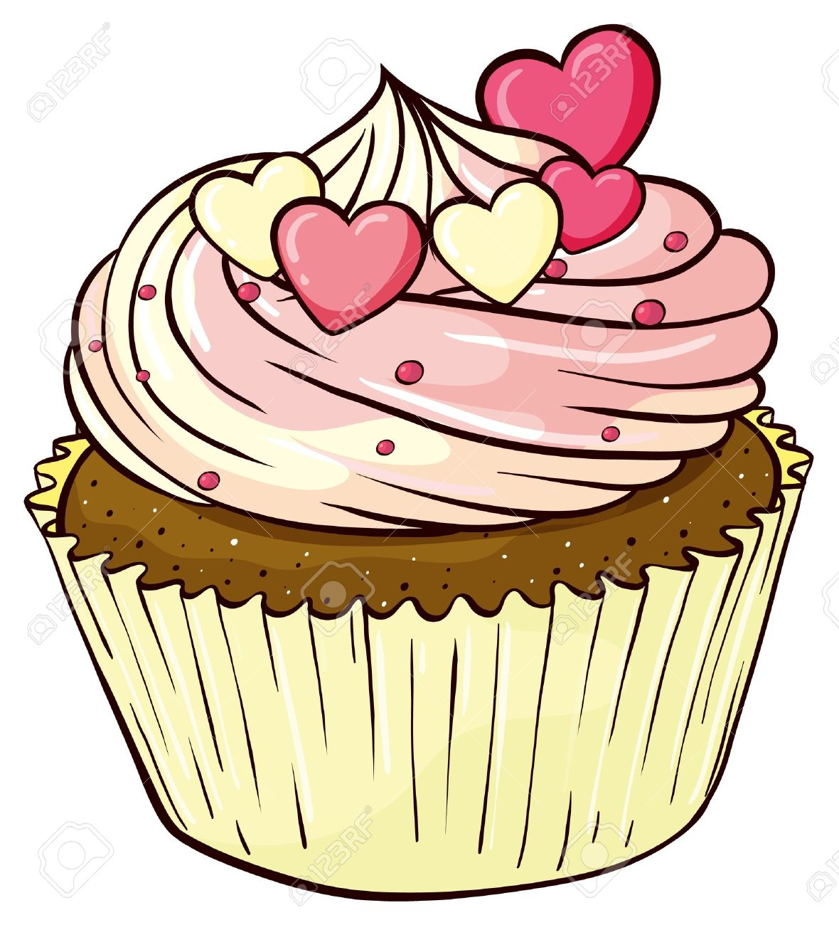 cupcake cartoon stock photos royalty free cupcake cartoon images rh 123rf com funny cartoon cupcake pictures cartoon cupcake pictures