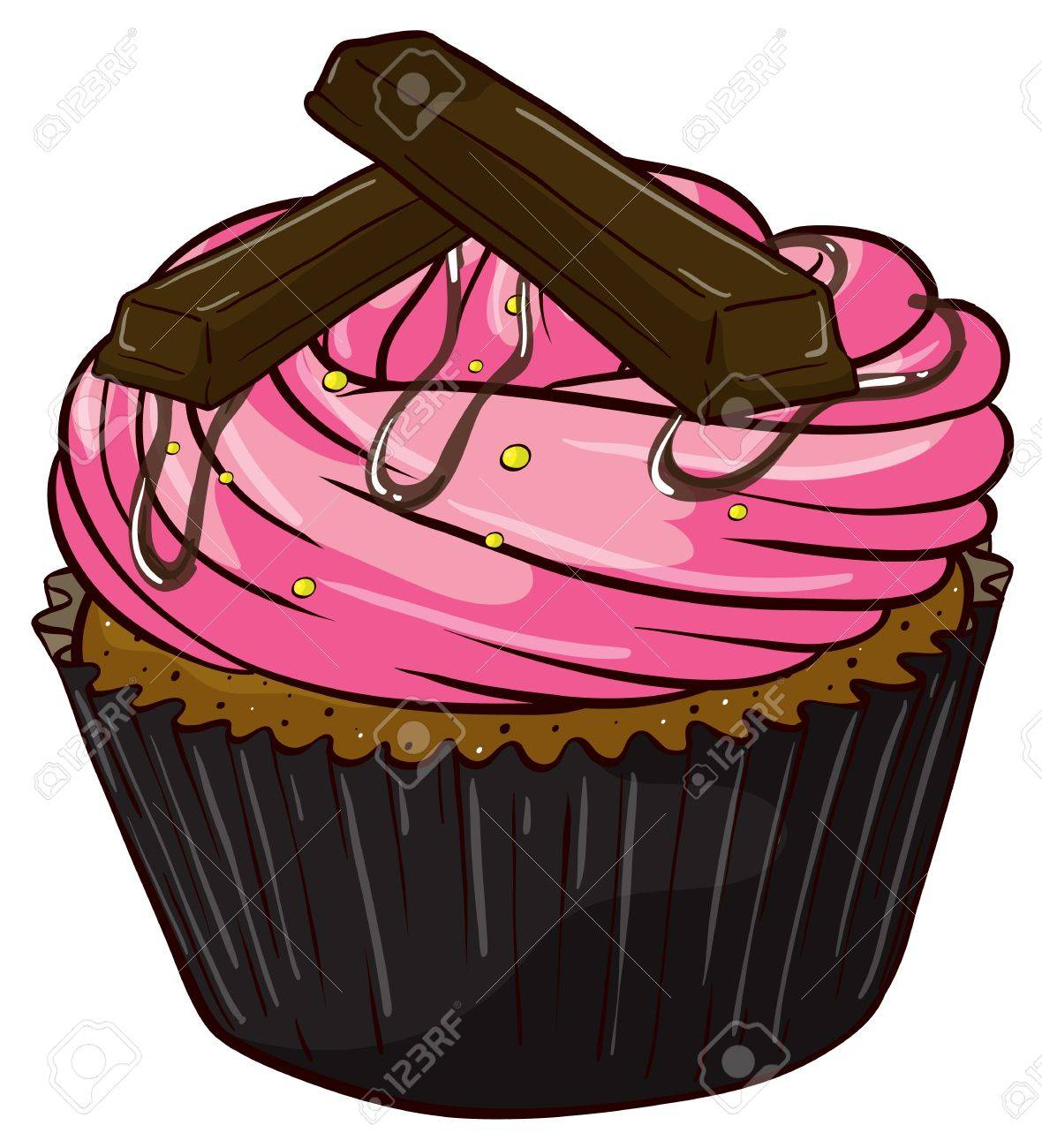 Illustration of an isolated cupcake Stock Vector - 16105414