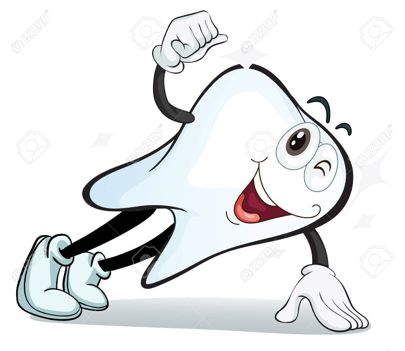 Illustration Of A Tooth On A White Background Royalty Free ...