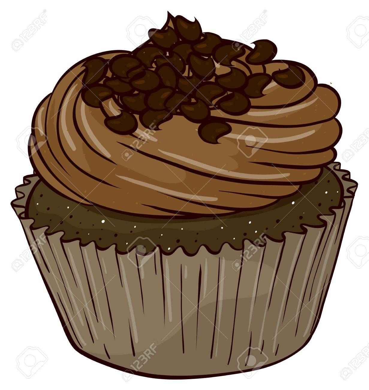Illustration of an isolated cupcake Stock Vector - 16157998
