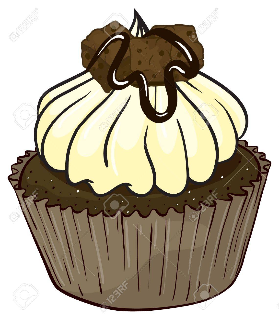Illustration of an isolated cupcake Stock Vector - 16157993