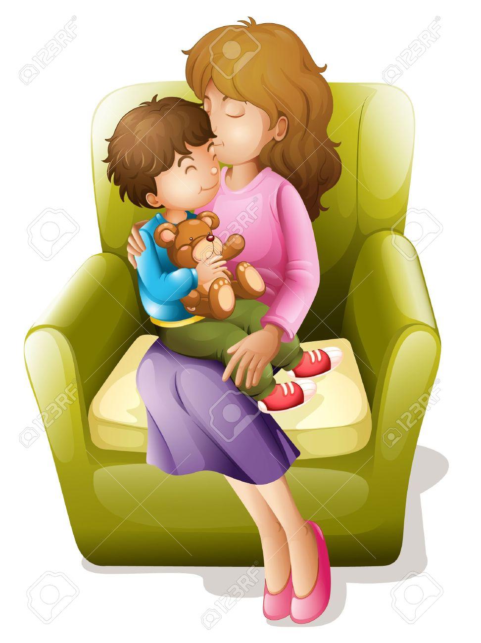 Рисованные картинки сын и мама 7 фотография