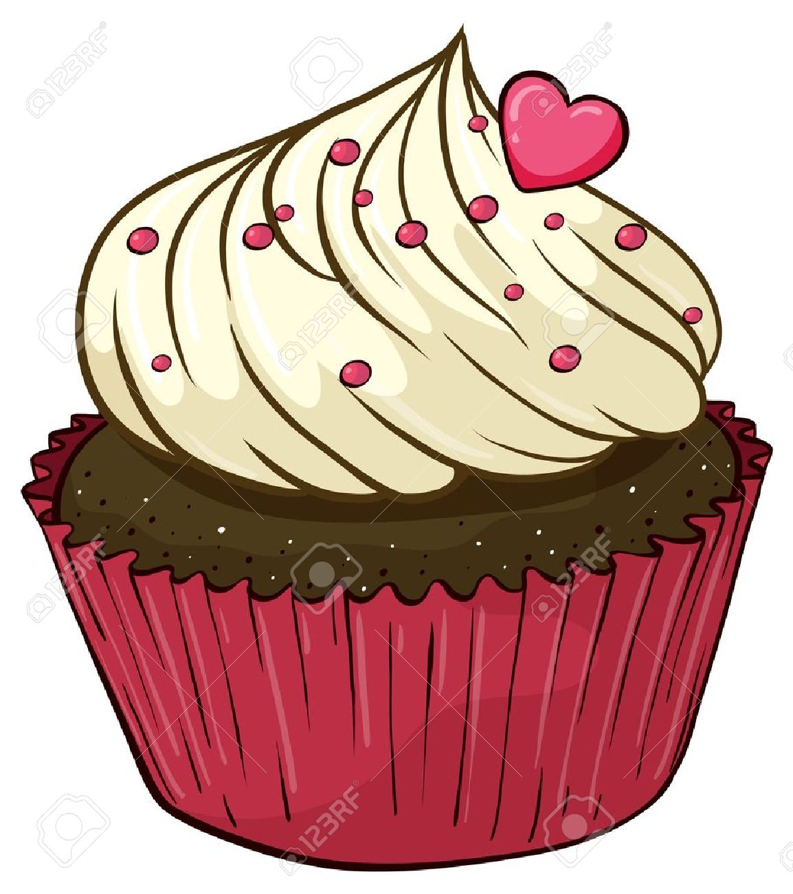 Illustration of an isolated cupcake Stock Vector - 16158004